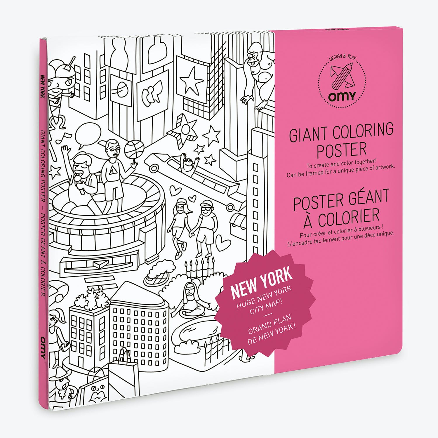 Coloring Poster New York