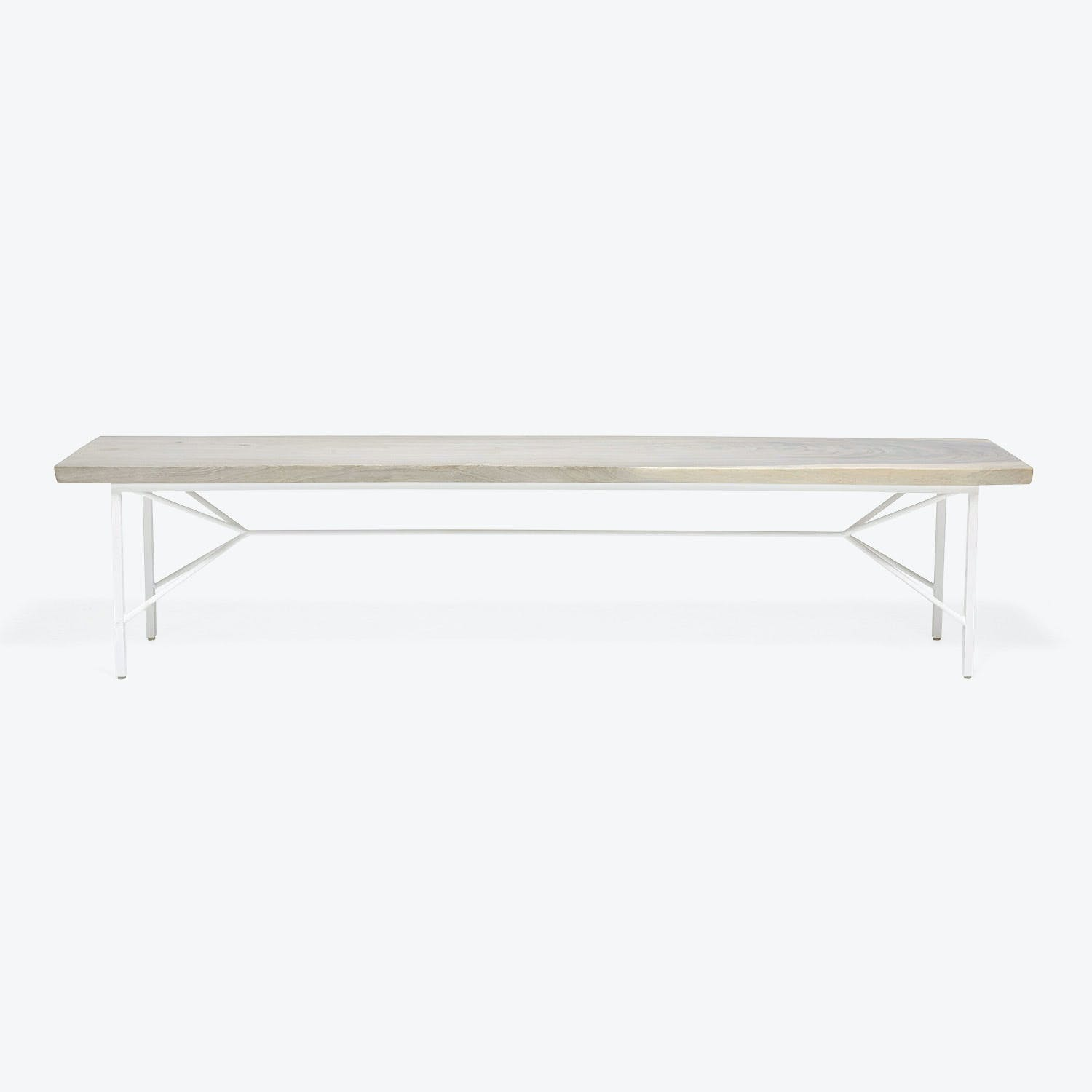 Product Image - Viento Helix Reclaimed Wood Bench White