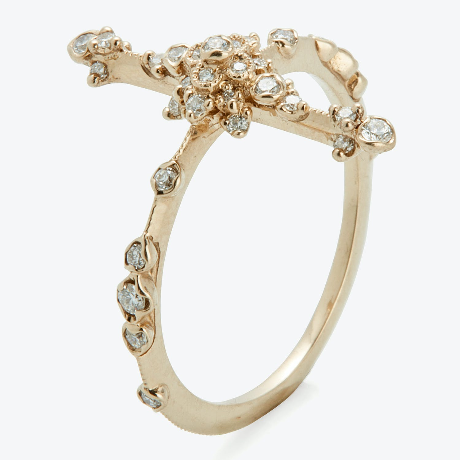 Kataoka Diamond Orchid Garland Ring