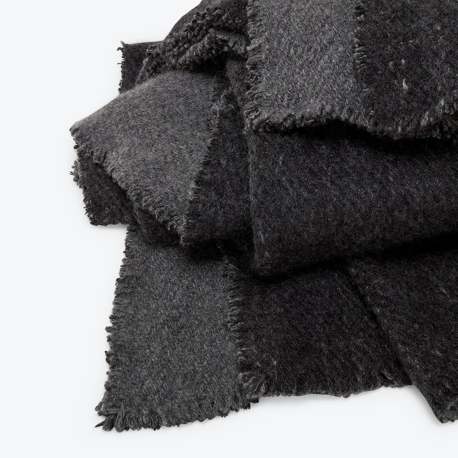 Fibre Tibet Cashmere Throw Charcoal & Black