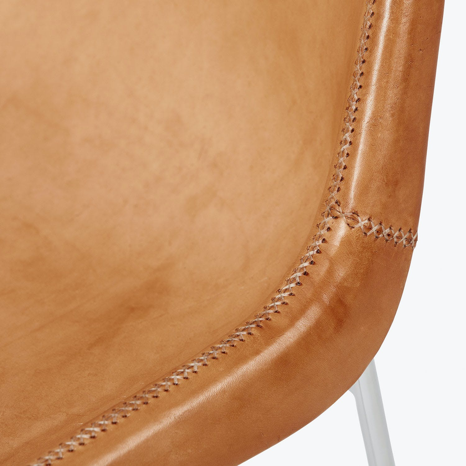 Giron Leather Side Chair Natural
