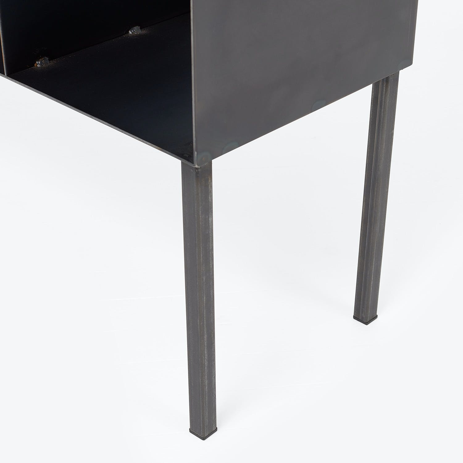 Flatiron-Wrought Cubic Steel Console