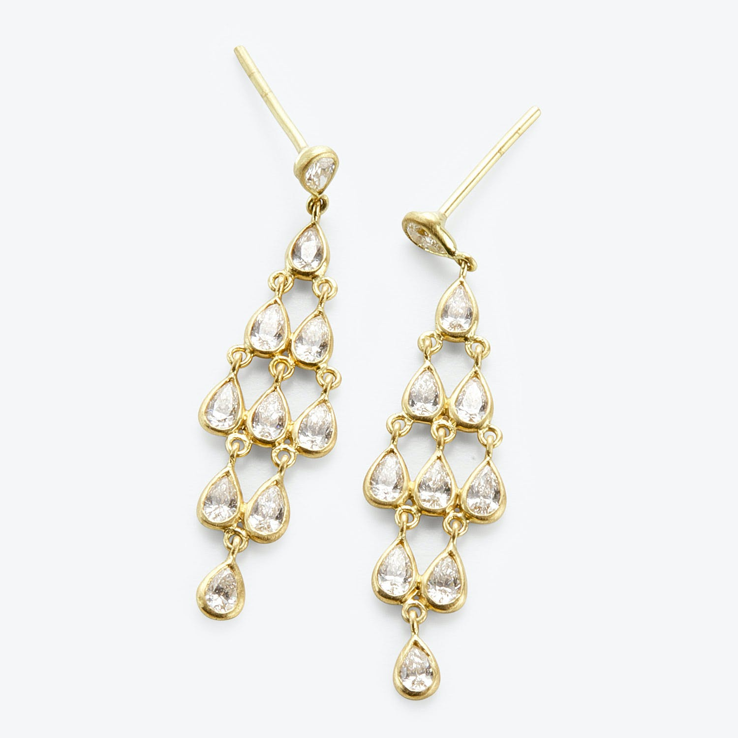Kothari Deco Chandelier Earrings Diamond, Gold