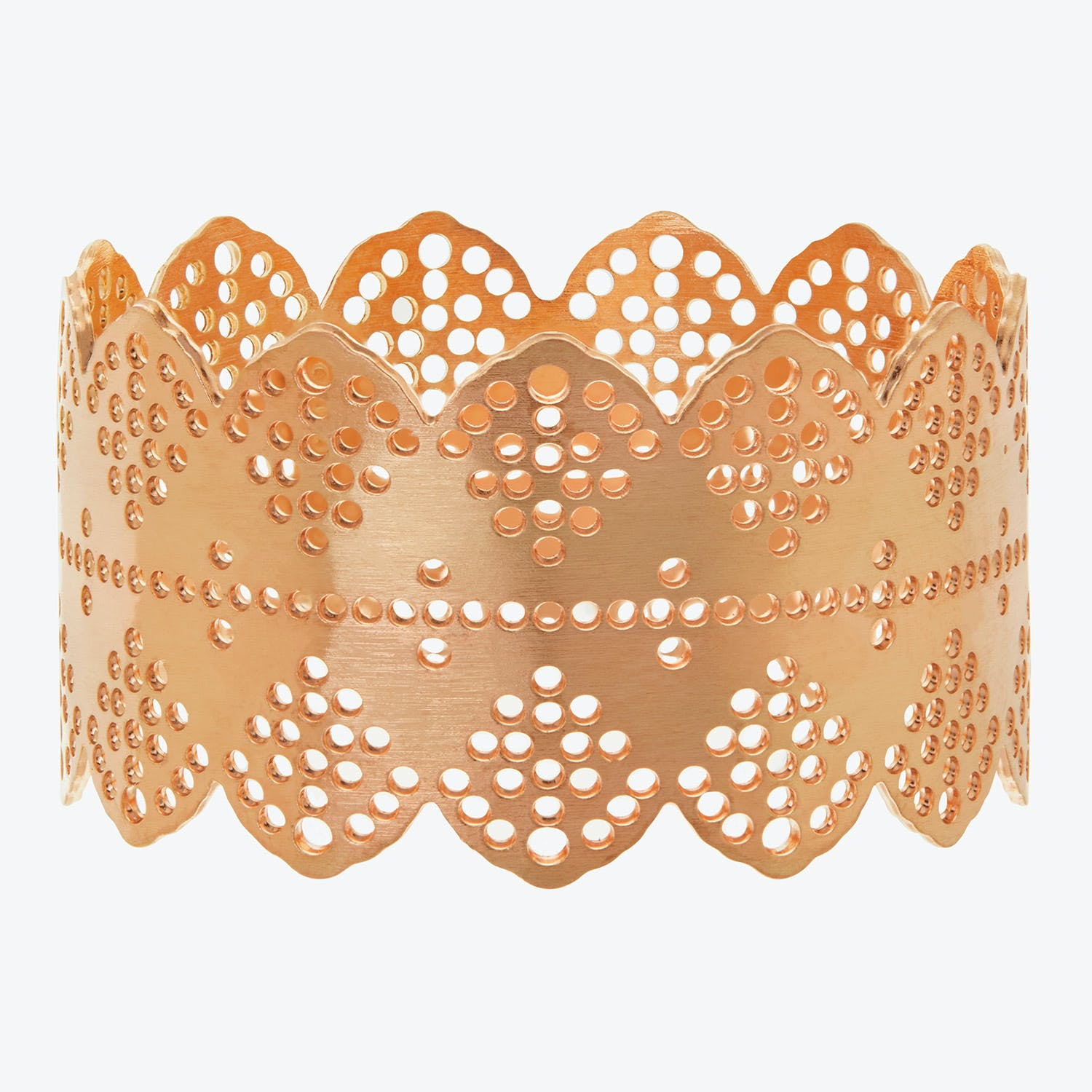 Lace Napkin Ring Rose Gold Abc Home