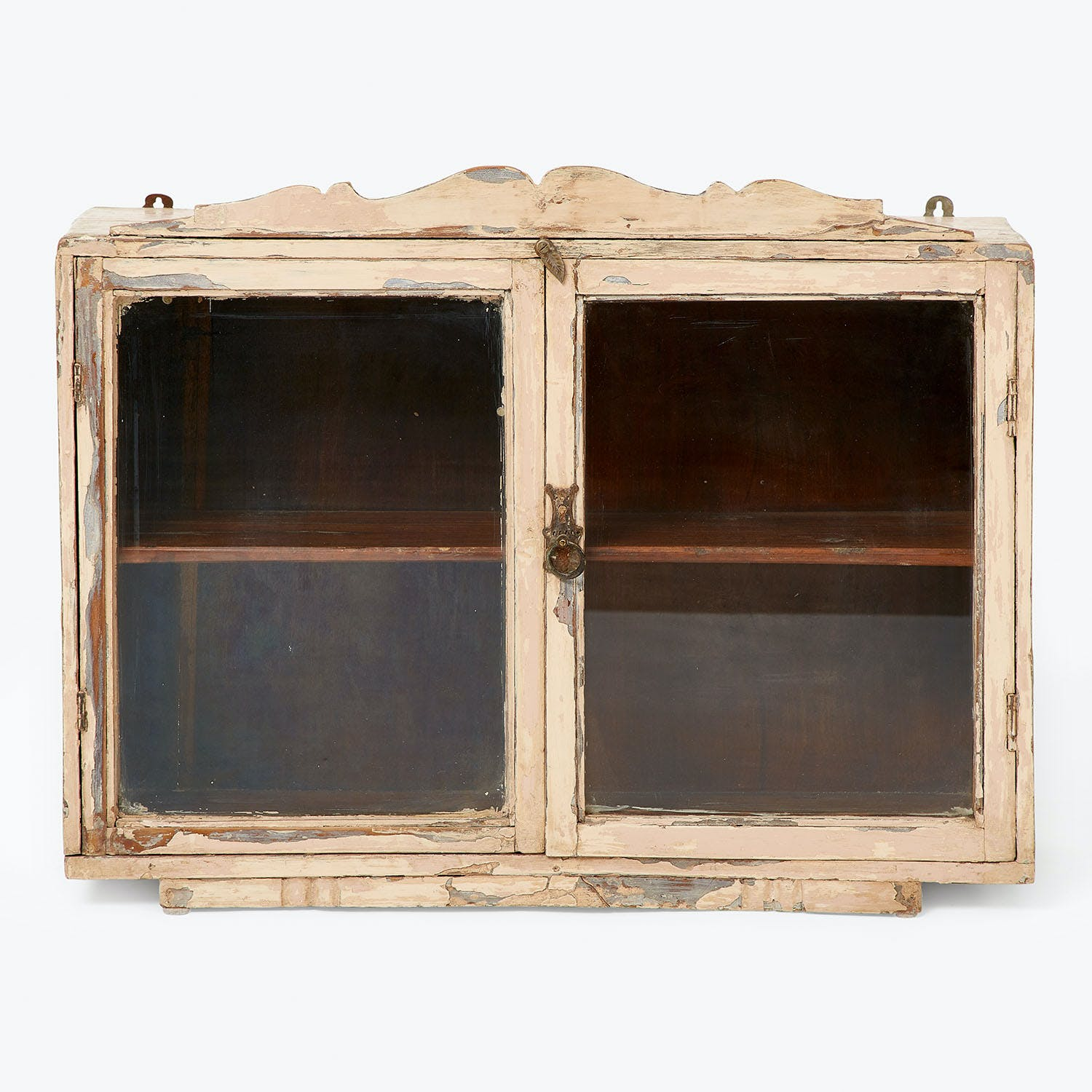 India Small Antique Glass Cabinet