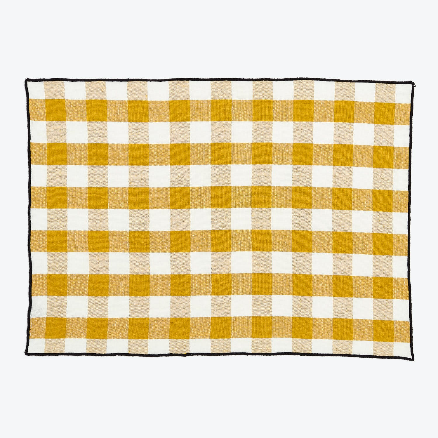 Product Image - Gingham Placemat Ochre