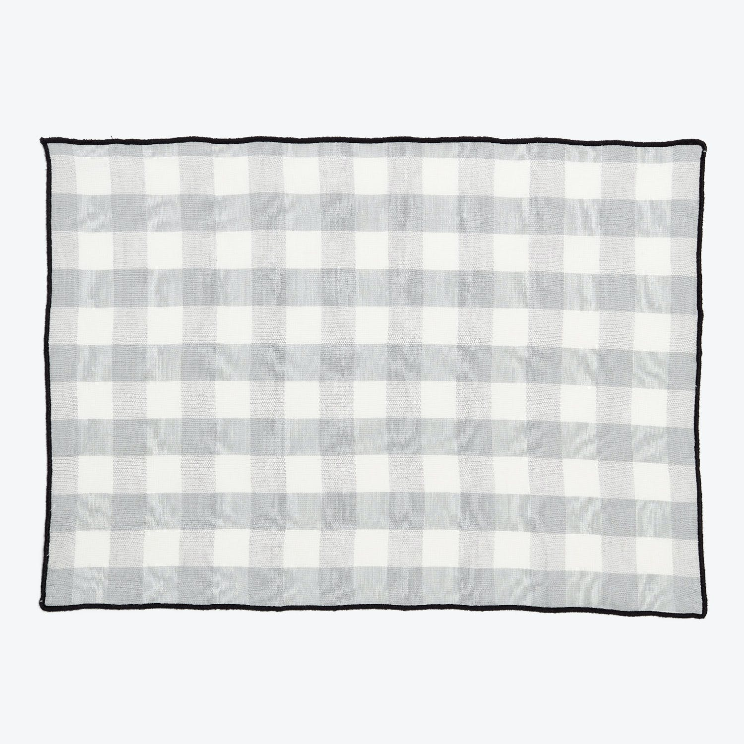 Product Image - Gingham Placemat Pearl gray