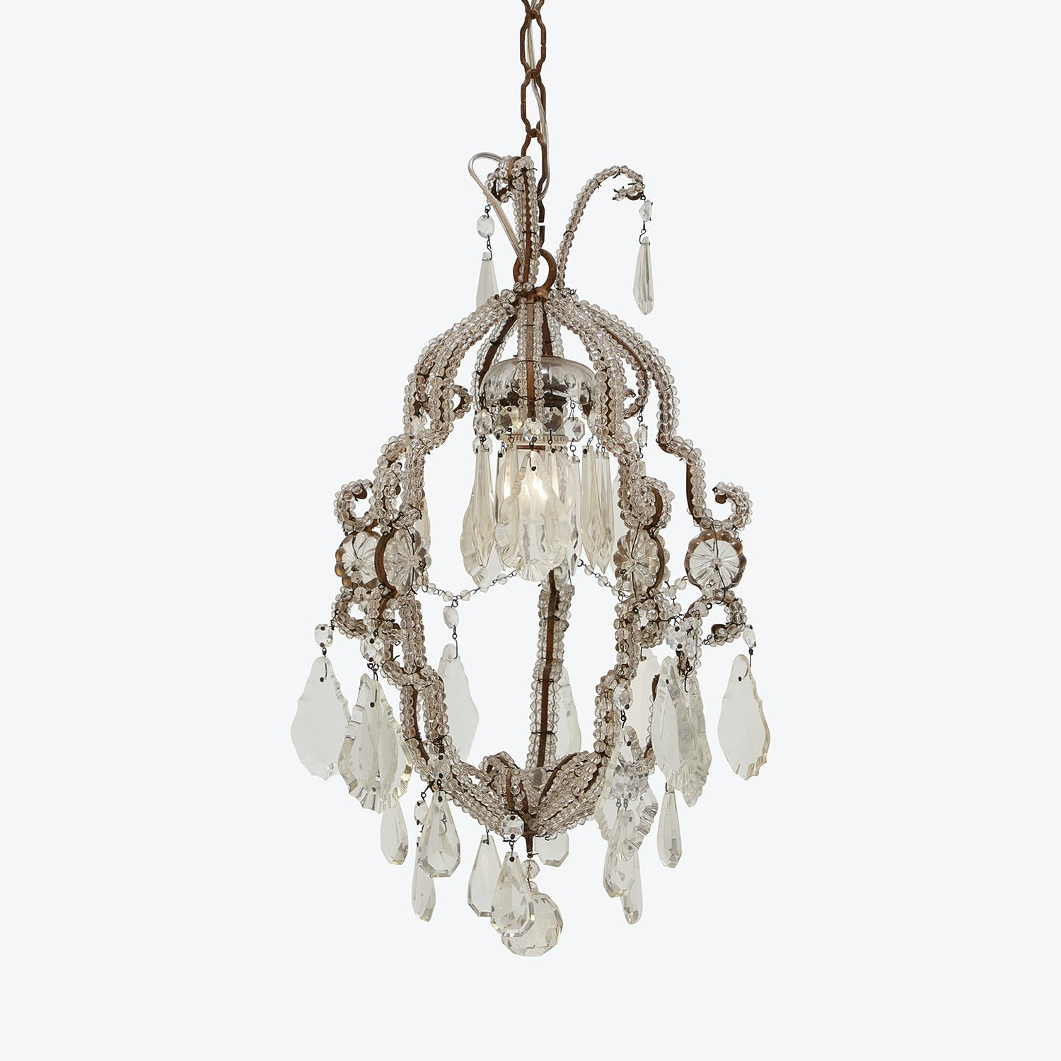 Product Image - Vintage Cut Glass Chandelier
