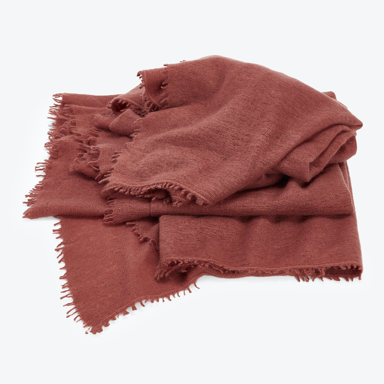 abcDNA Om Cashmere Throw Rich Brown