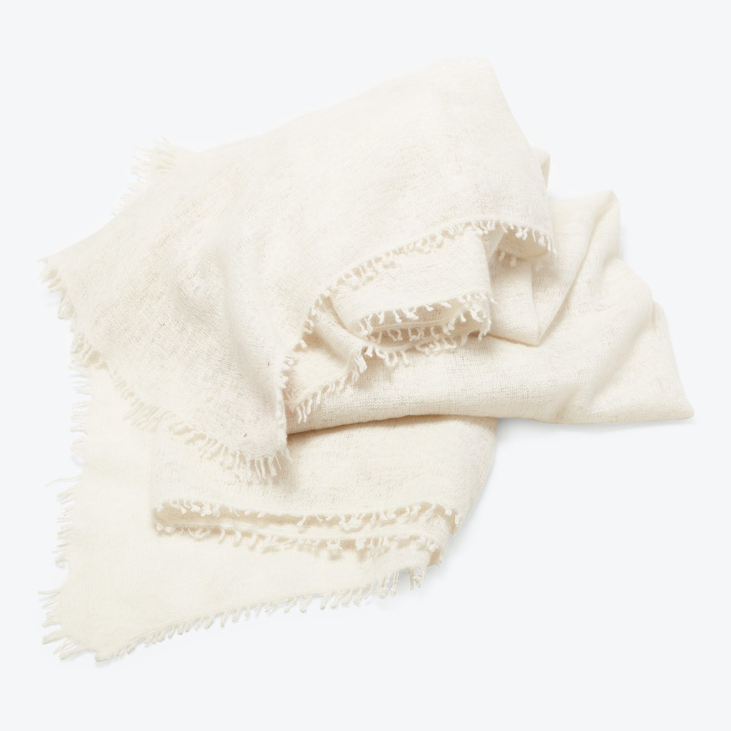 abcDNA Om Cashmere Throw Cloud
