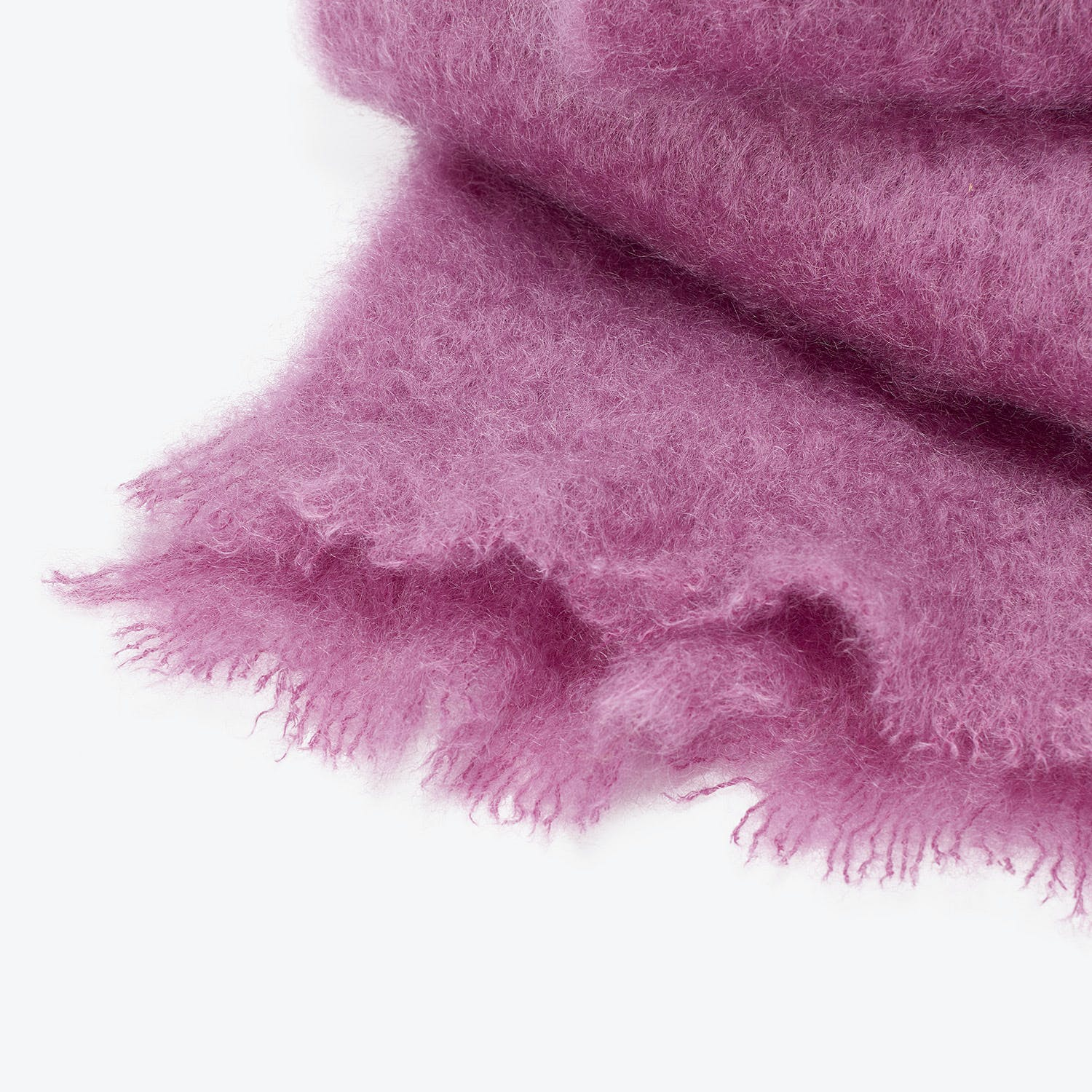 abcDNA Mohair Throw Orchid