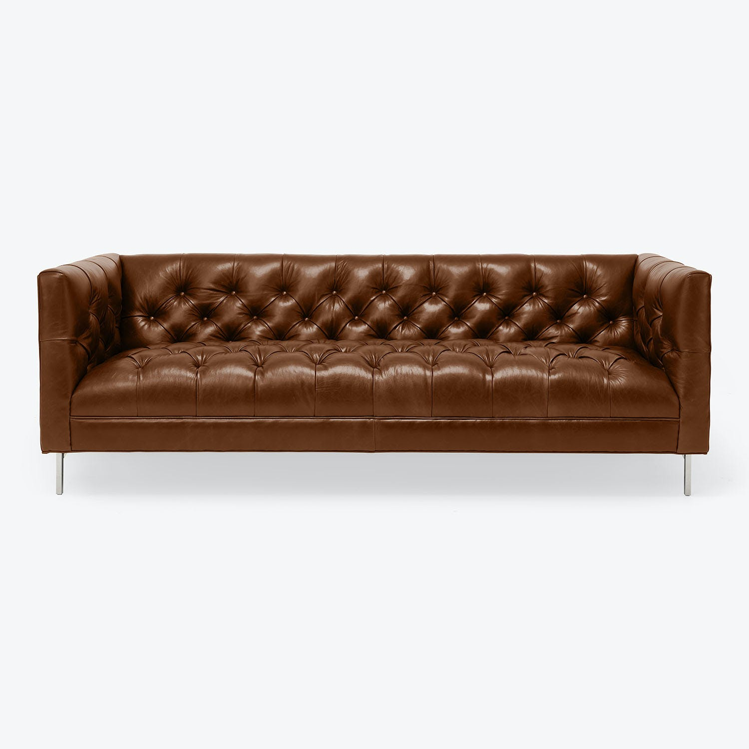 "Cobble Hill Tribeca Leather 74"" Sofa"