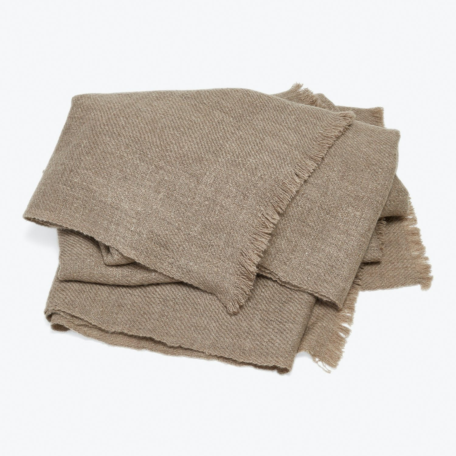 Fibre Tibet Chai Wallah Cashmere Throw Natural