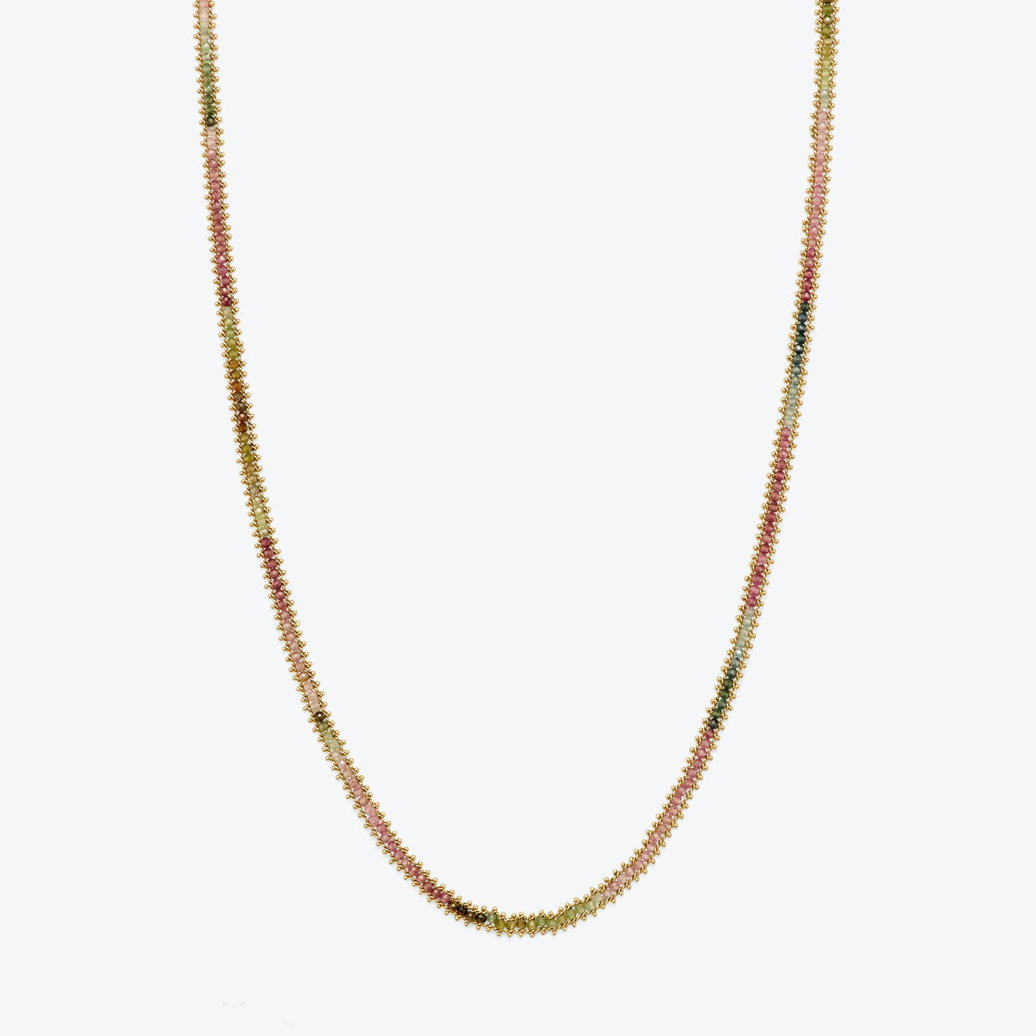 Amali Textile Necklace Rainbow Tourmaline