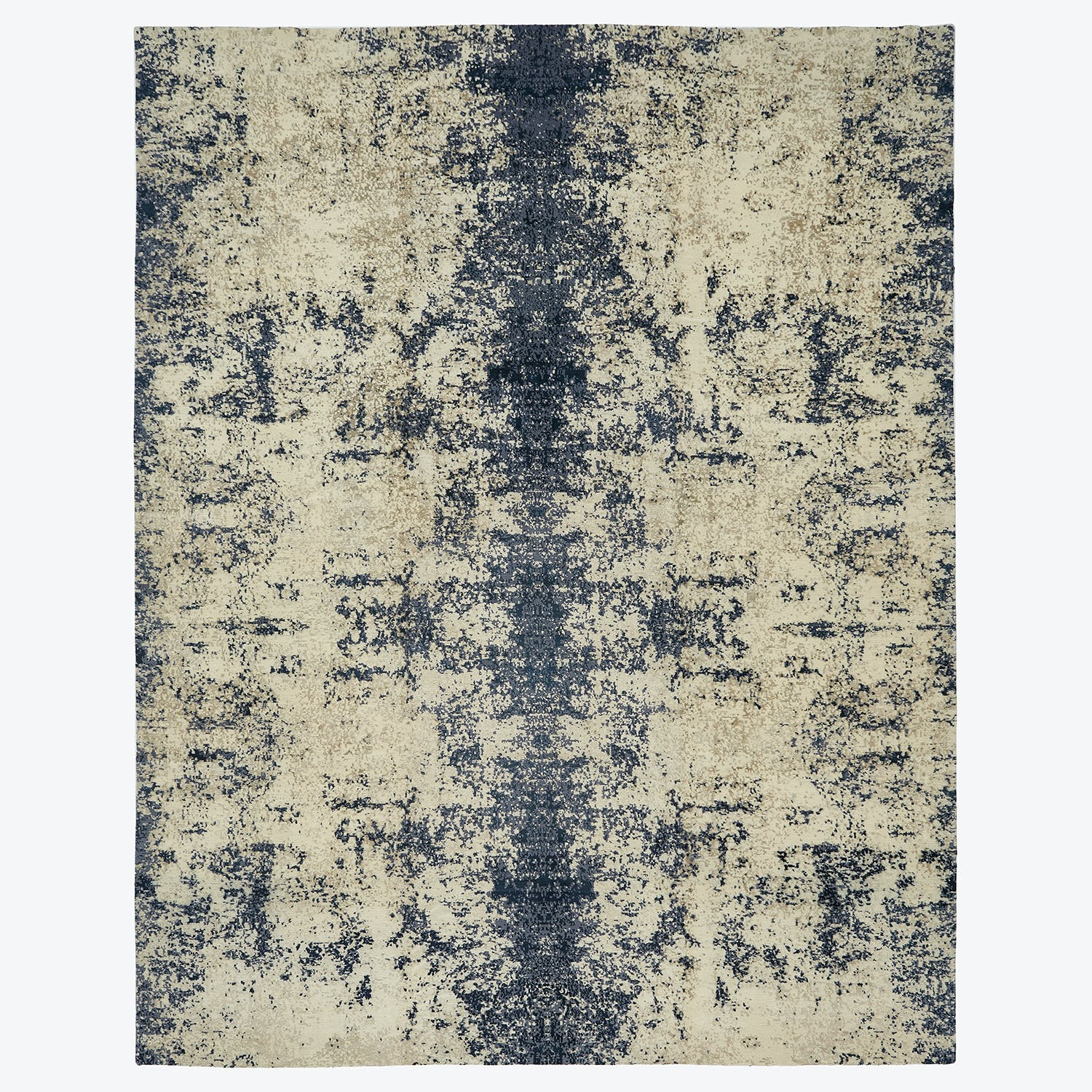 Contemporary Abstract Silk & Wool Rug-12'x15'