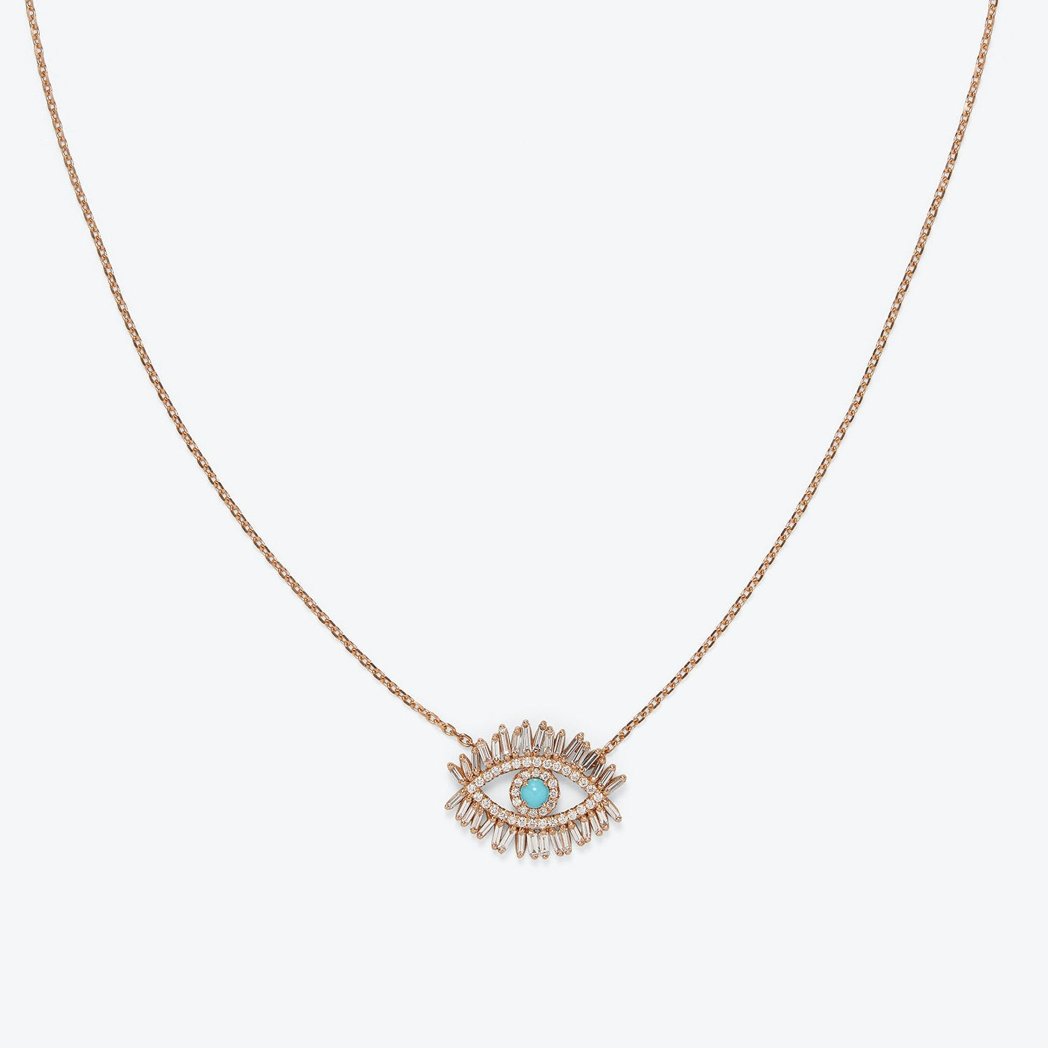 Suzanne Kalan Evil Eye Diamond Necklace