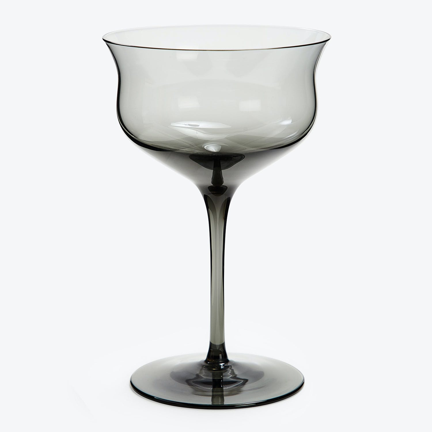 abcDNA Simile Champagne Glass Smoke