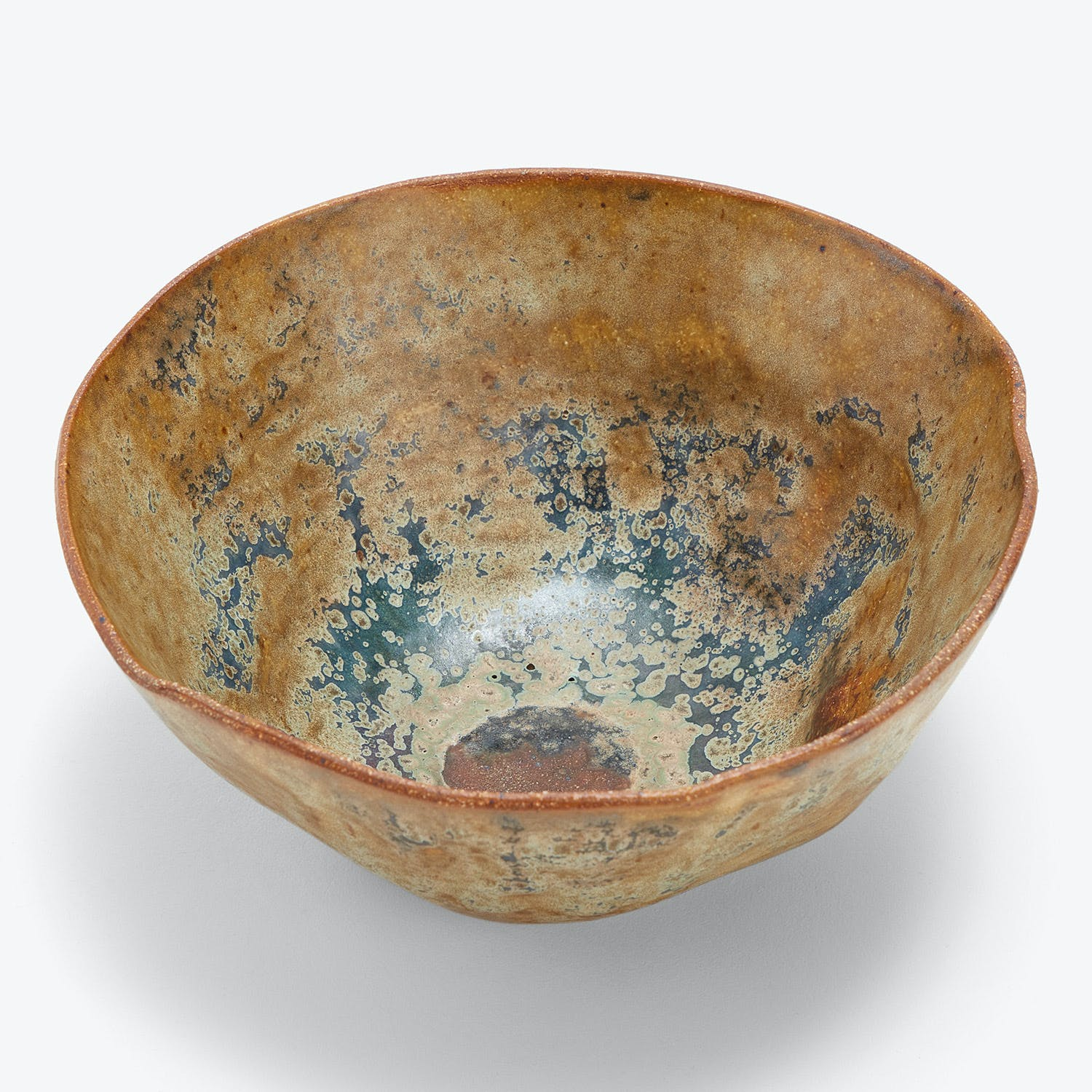 Terra Coll Clayworks Bowl Gold Green