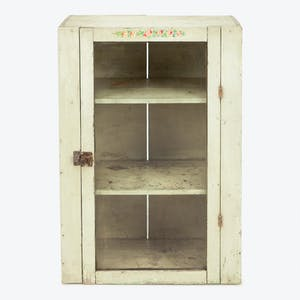 Product Image - Vintage Floral Detail Cabinet White