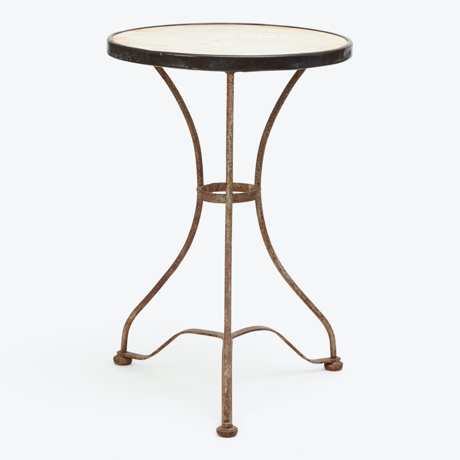 Vintage Marble Top Bistro Table
