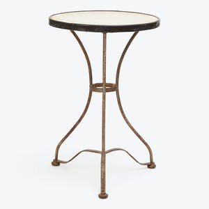 Product Image - Vintage Marble Top Bistro Table