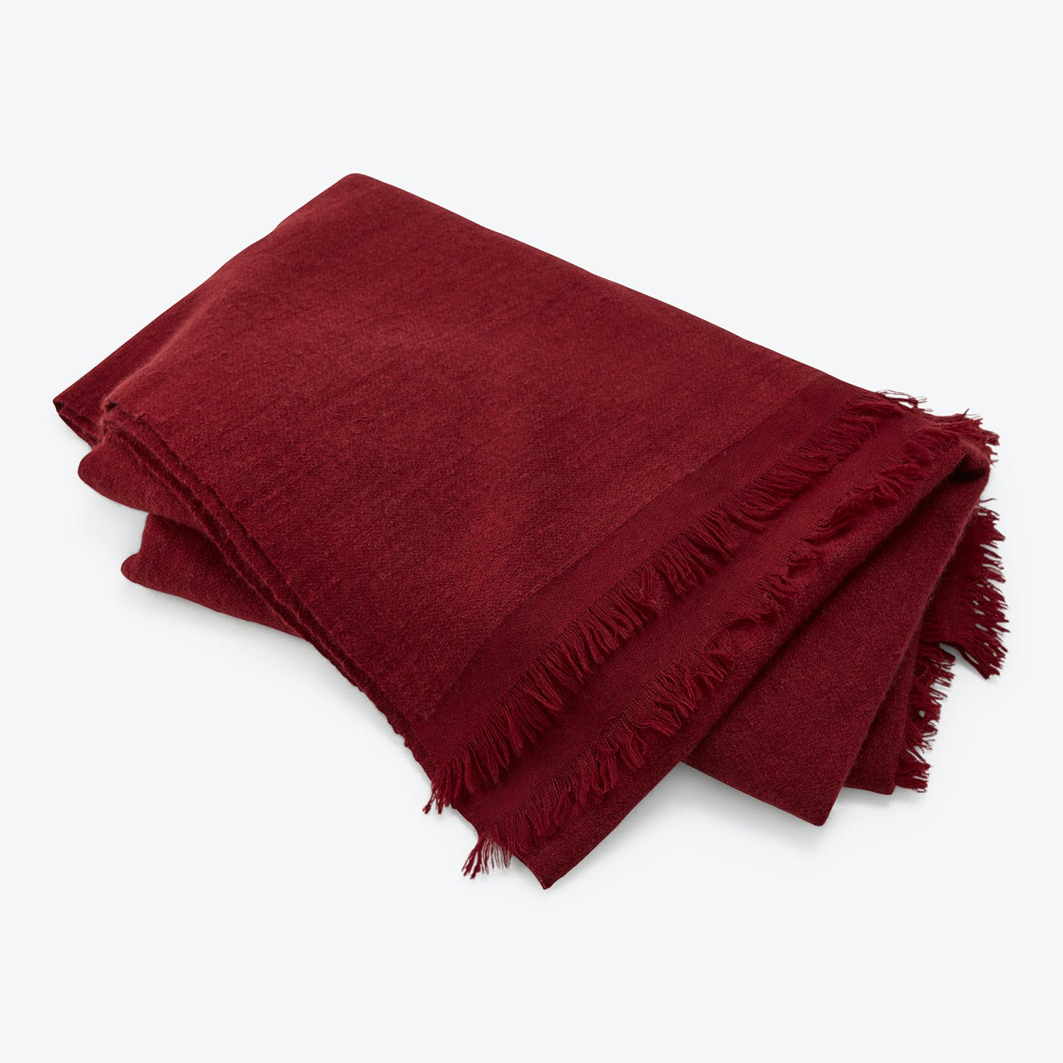 From The Road Pana Throw Maroon