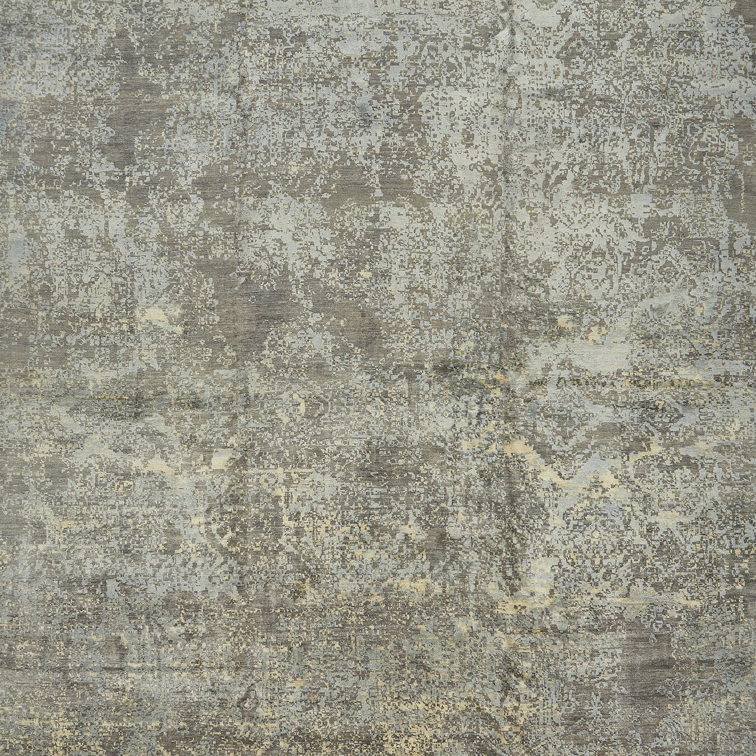 "Contemporary Silk & Wool Rug-11'11""x15'5"""