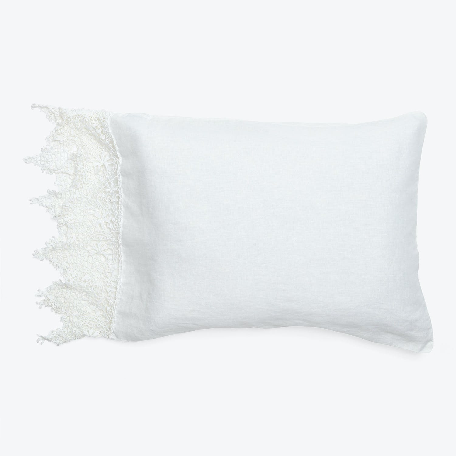 Bella Notte Frida King Pillowcase White