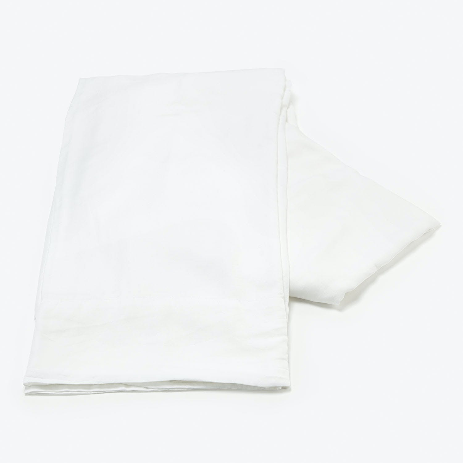 Bella Notte Madera Luxe Queen Flat Sheet White