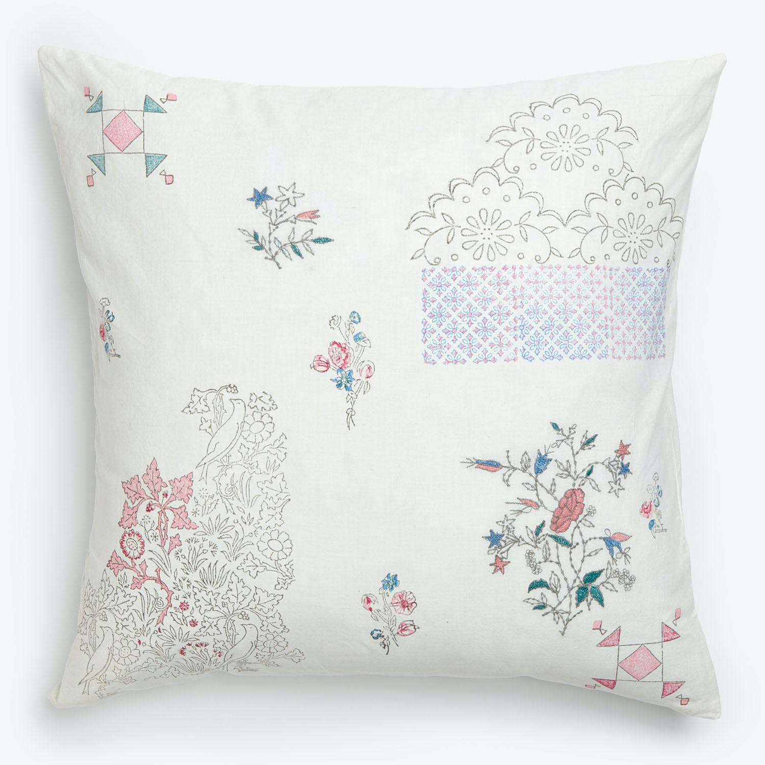 Product Image - Eka Aster Floral Pillow White