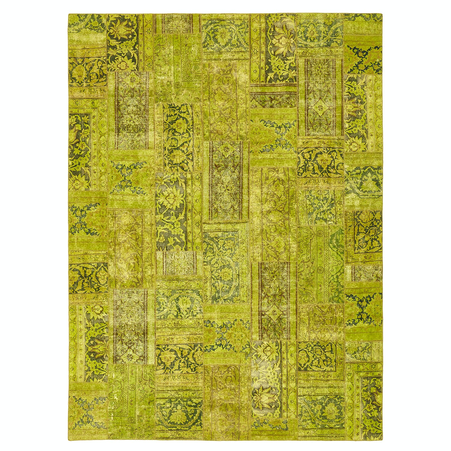 Color Reform Patchwork Overdyed Rug - 9'x12'2""