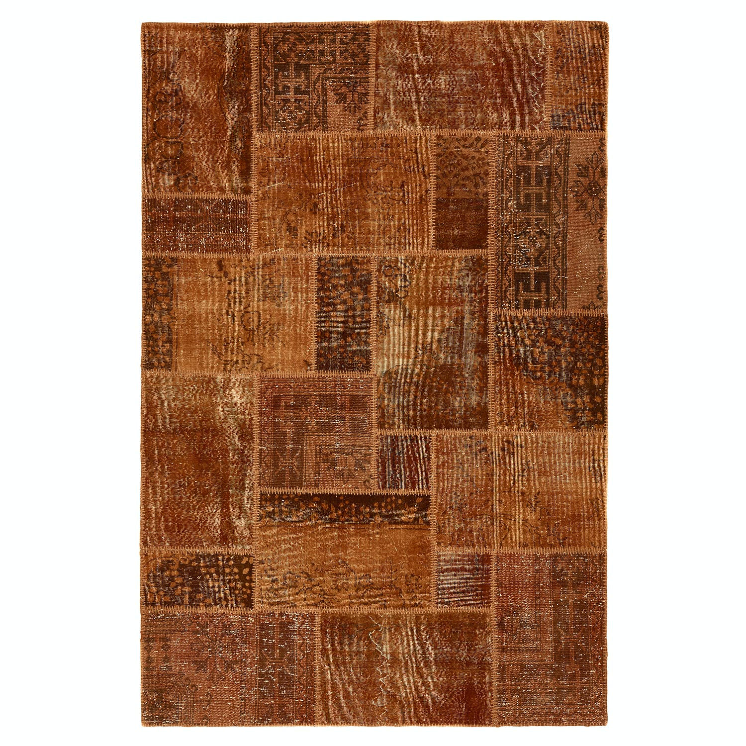 Color Reform Patchwork Overdyed Rug - 6'x9'