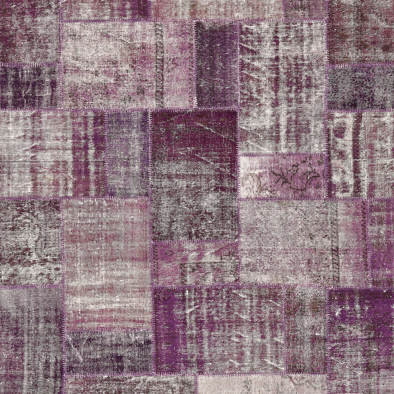 "Color Reform Patchwork Overdyed Rug - 8'2""x9'10"""
