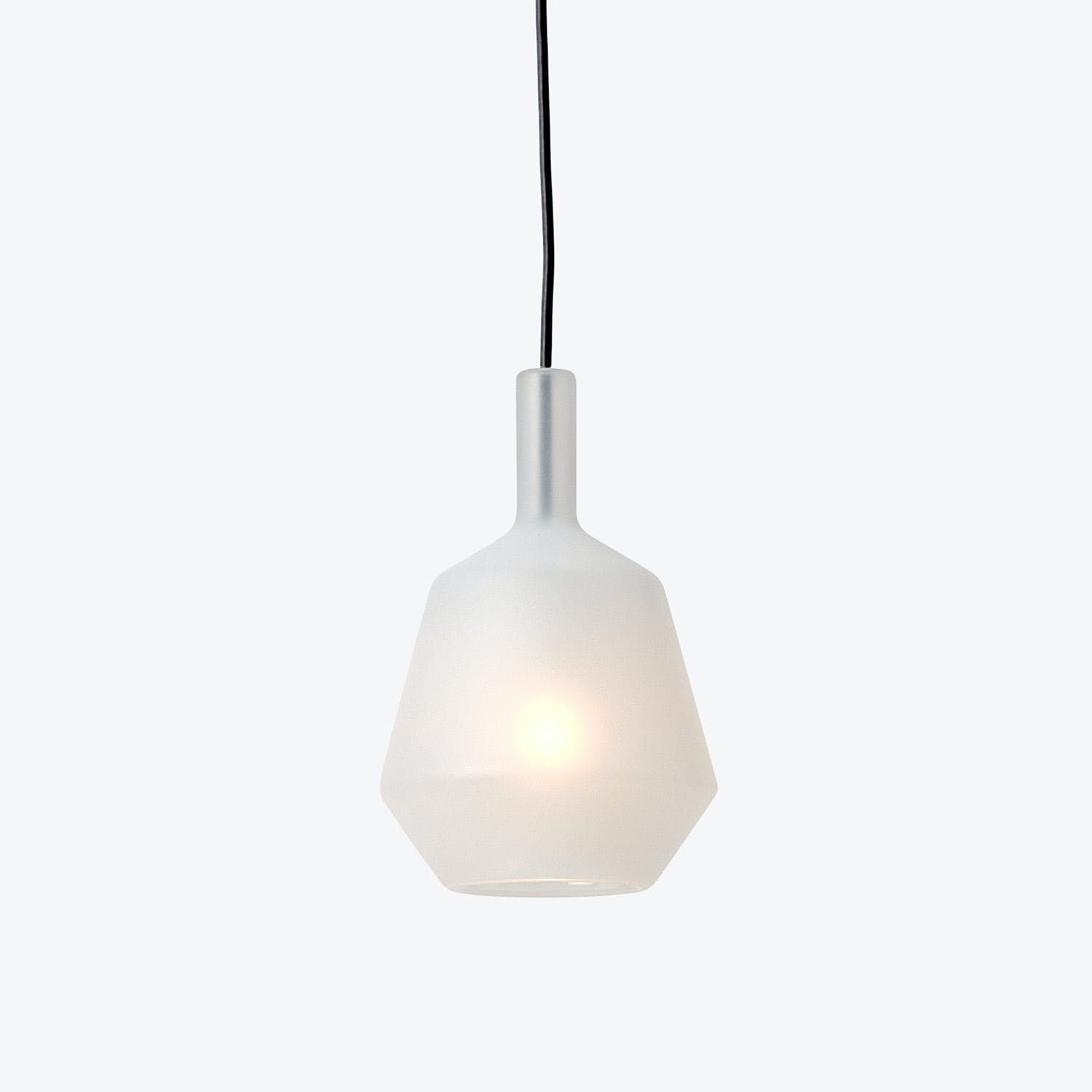 Polygon Glass Pendant White