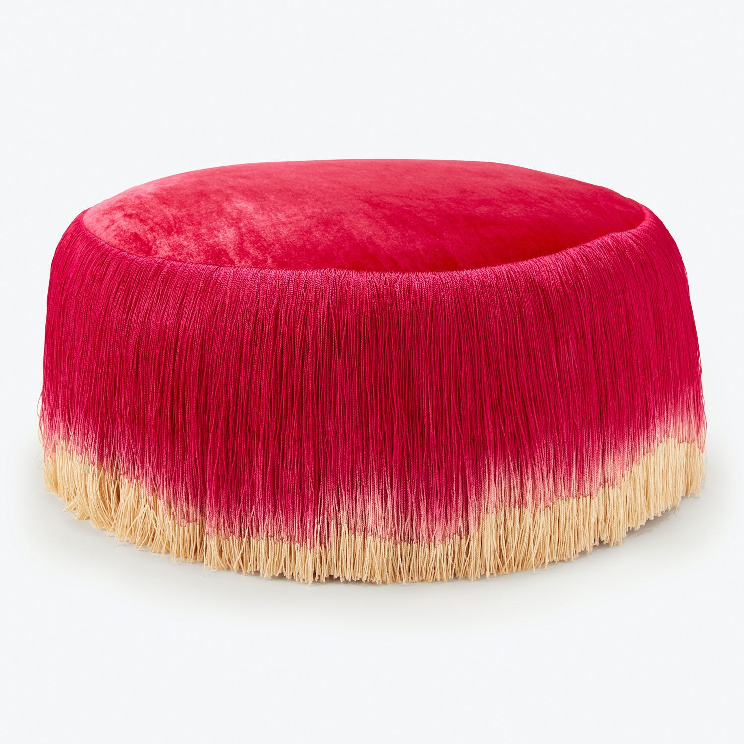 Product Image - Long Fringe Drum Hot Pink