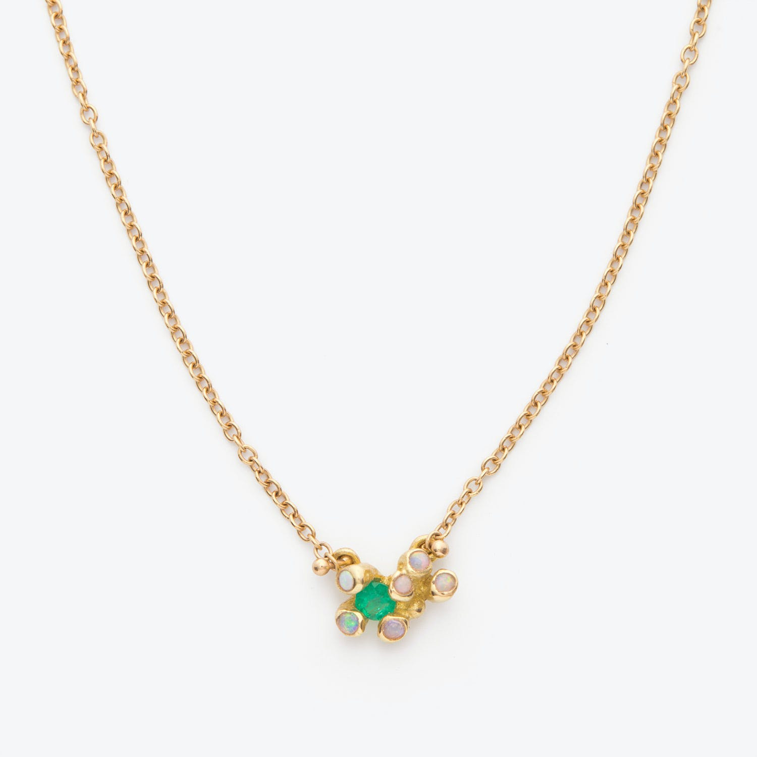 Product Image - Emerald + Opal Big Dipper Necklace