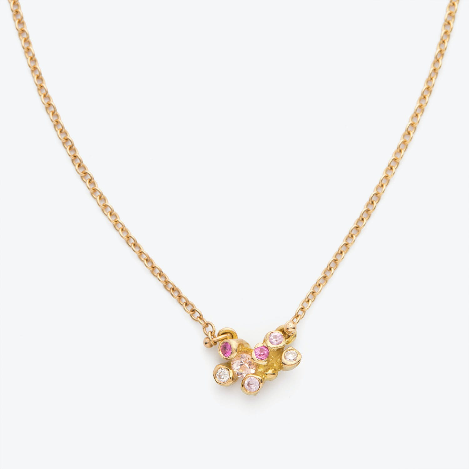 Kimberlin Brown Imperial Topaz, Ruby, & Pink Sapphire Little Dipper Necklace