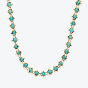 Product Image - Turquoise Woven Necklace