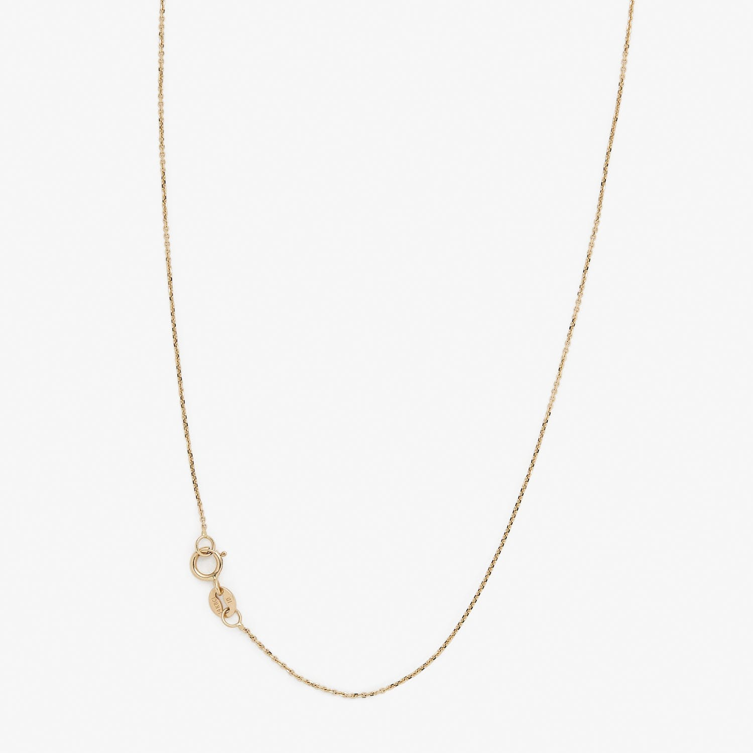 ABC Linear Chain Moonstone Necklace