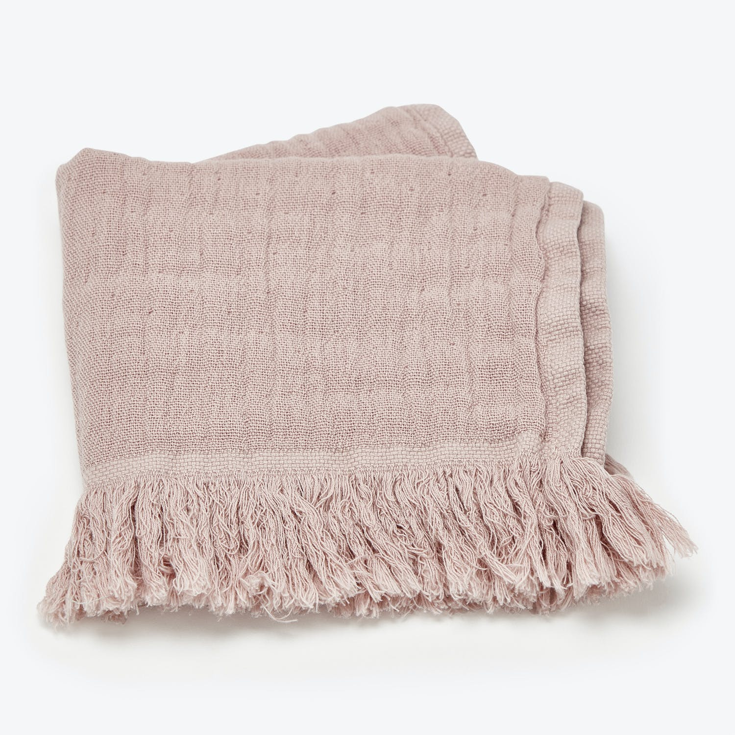 Fringe Washcloth Rose