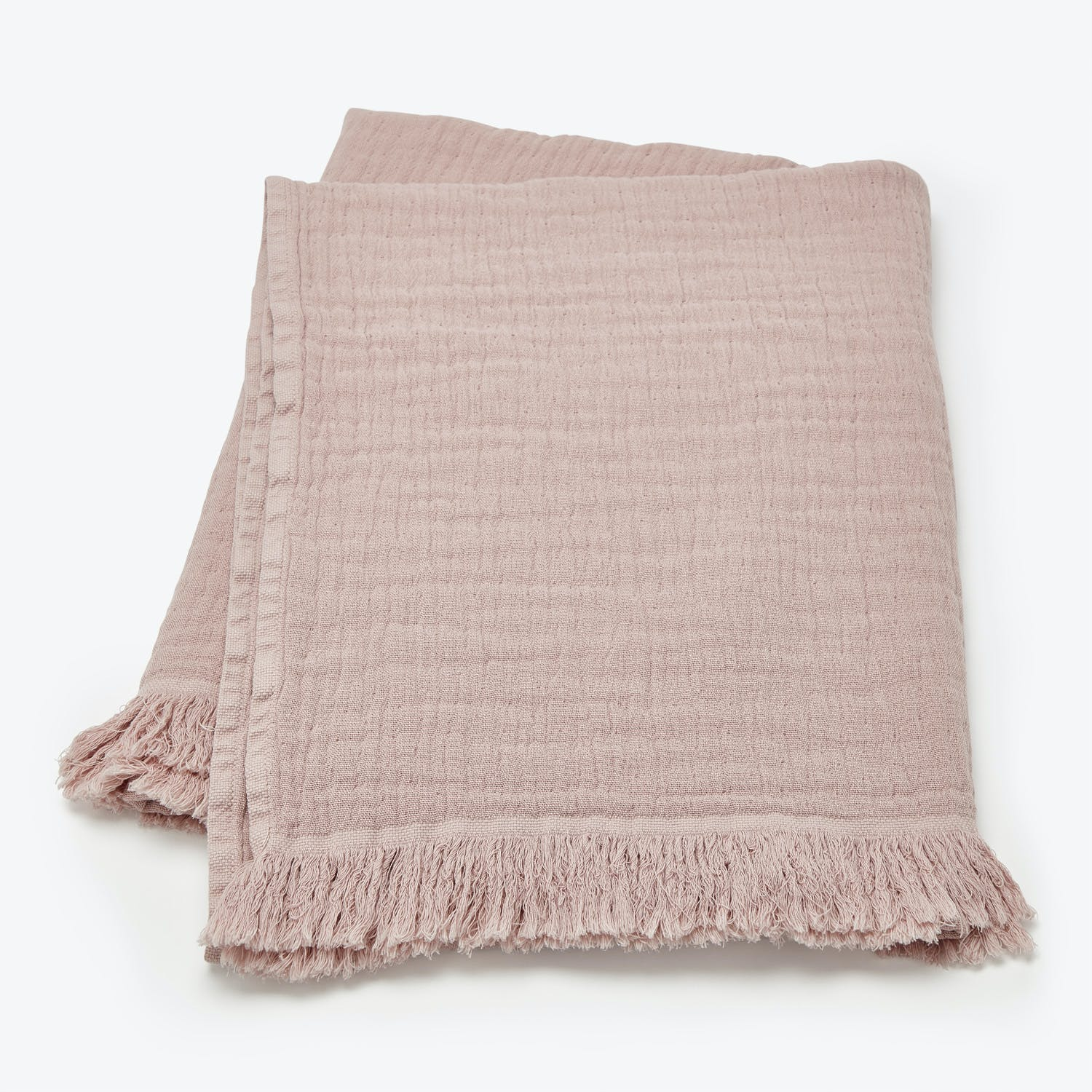 Fringe Bath Sheet Rose