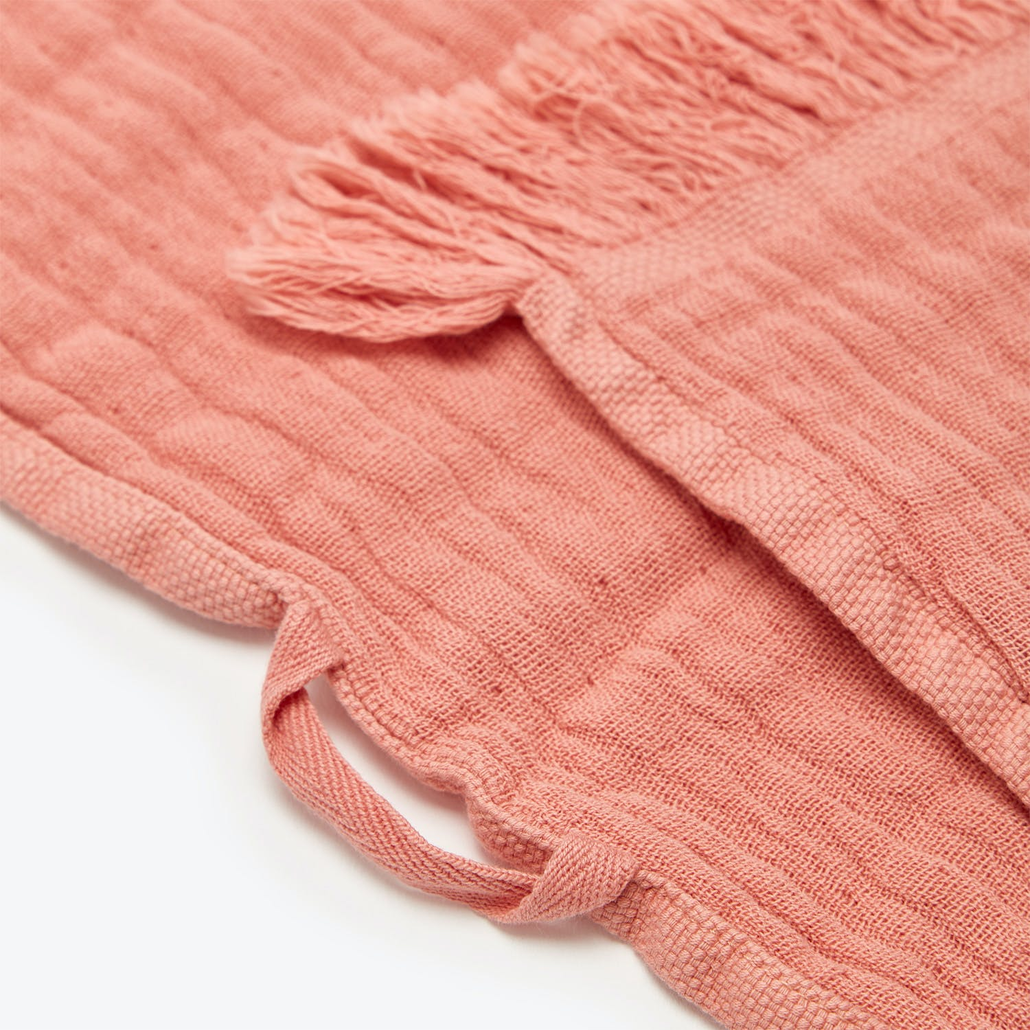 Fringe Bath Towel Salmon