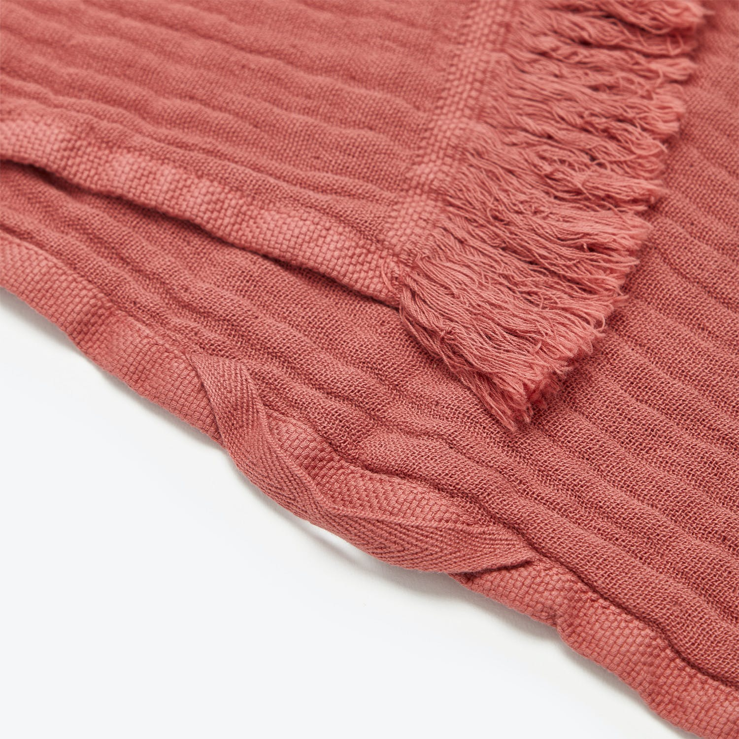 Fringe Bath Sheet Terracotta