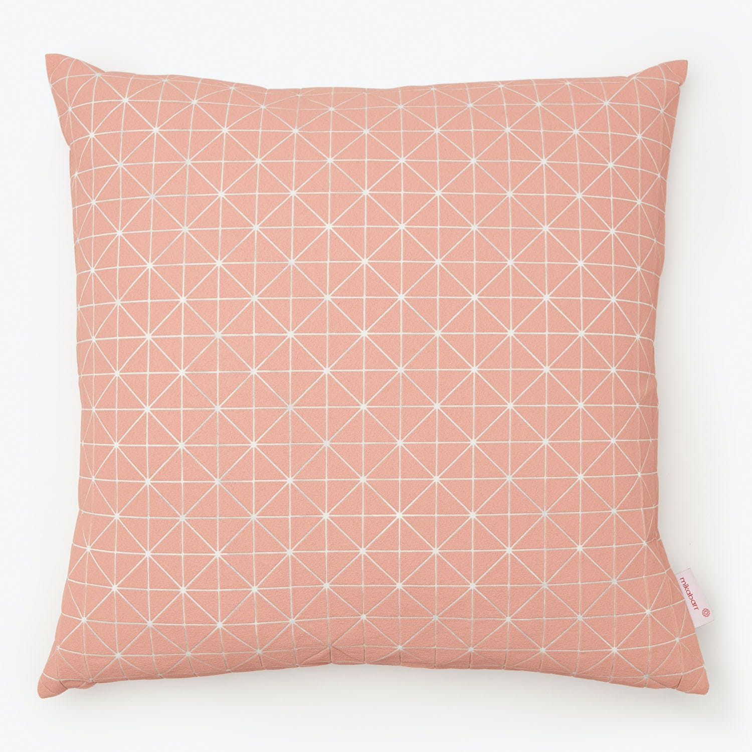 Mikabarr Geo Origami Pillow Pale Pink