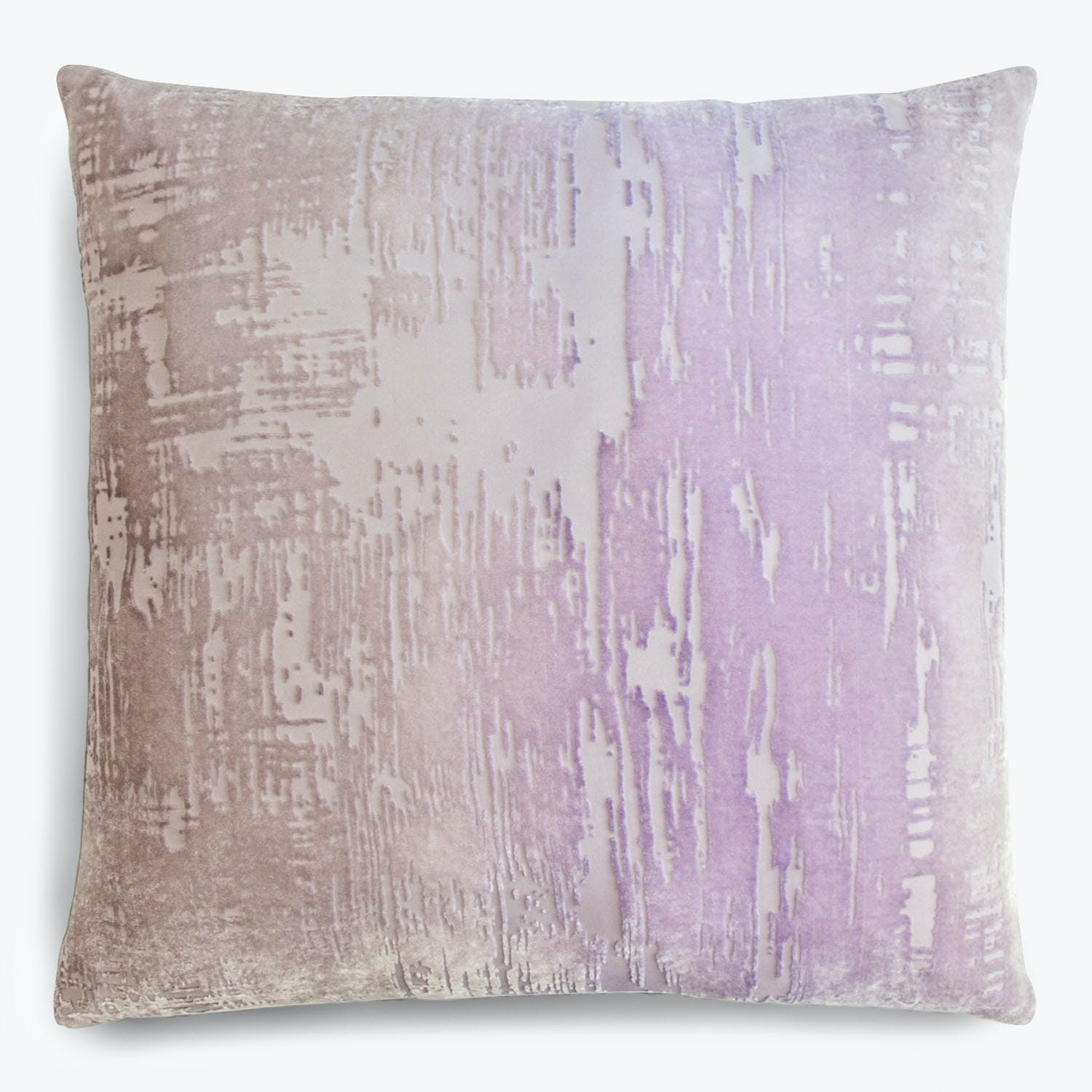 Brushstroke Velvet Pillow Iris