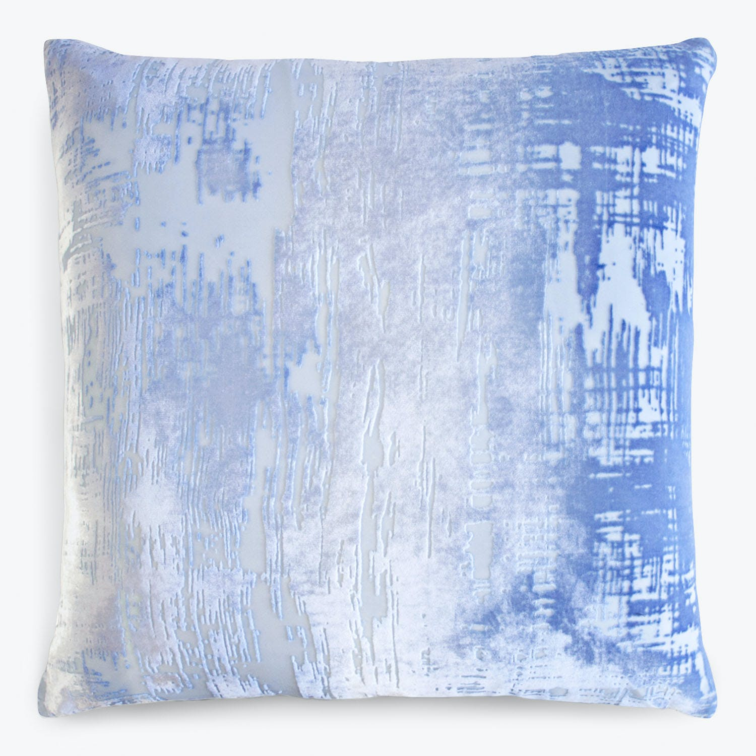 Brushstroke Velvet Pillow Lapis