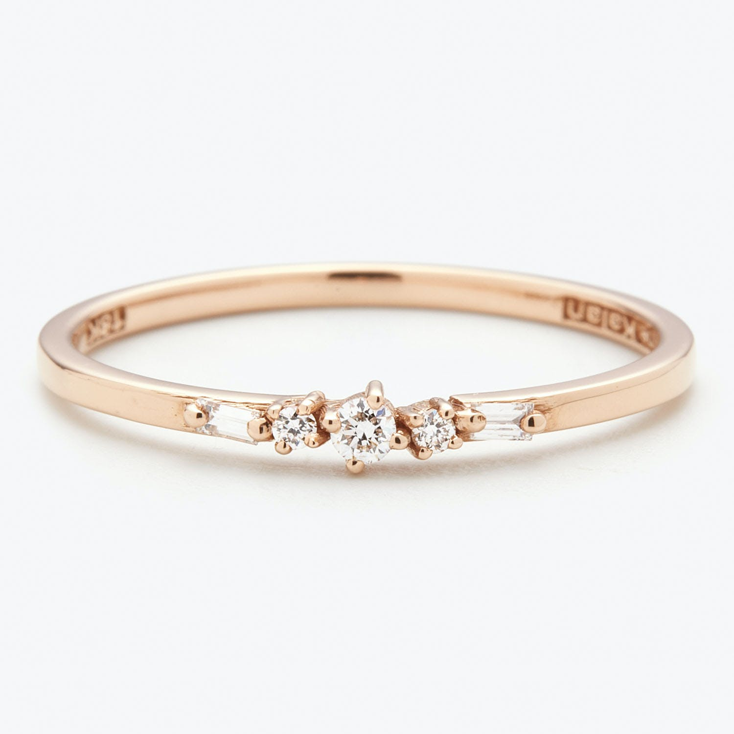 Suzanne Kalan 5 Mixed Cut Diamond Stacking Ring
