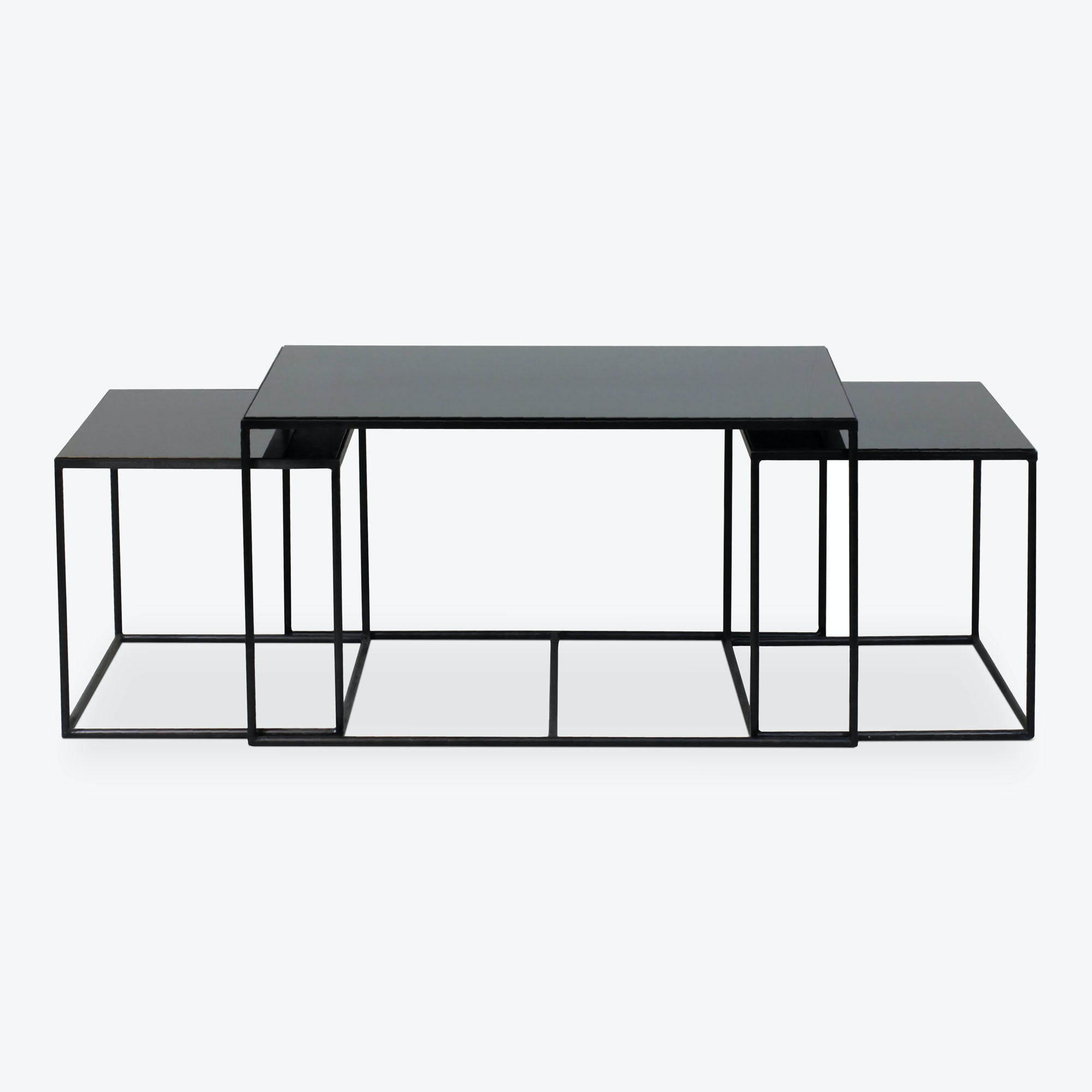 - Reflect Nesting Coffee Tables Charcoal - Abc Home