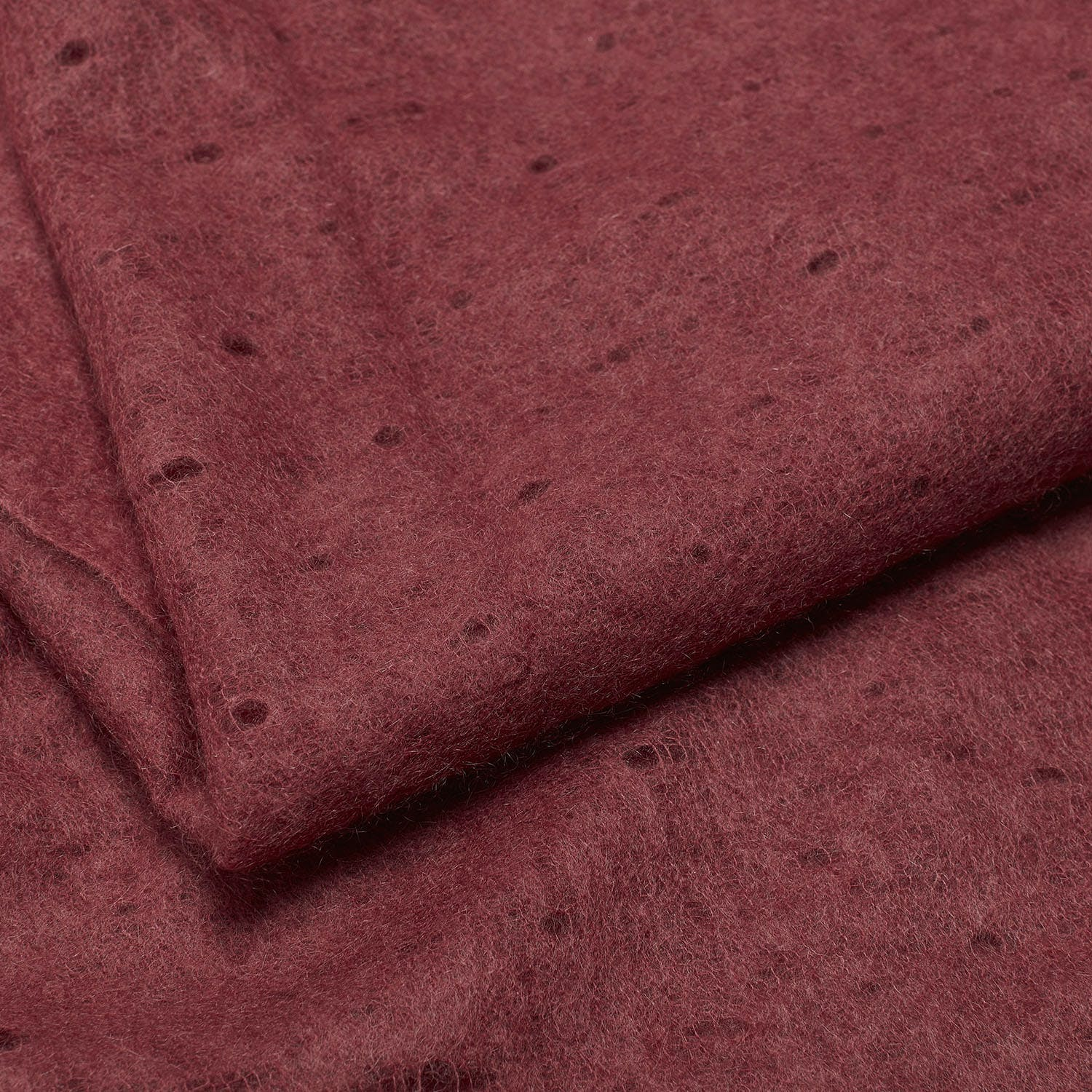 abcDNA Cashmere Micro Throw Red Earth