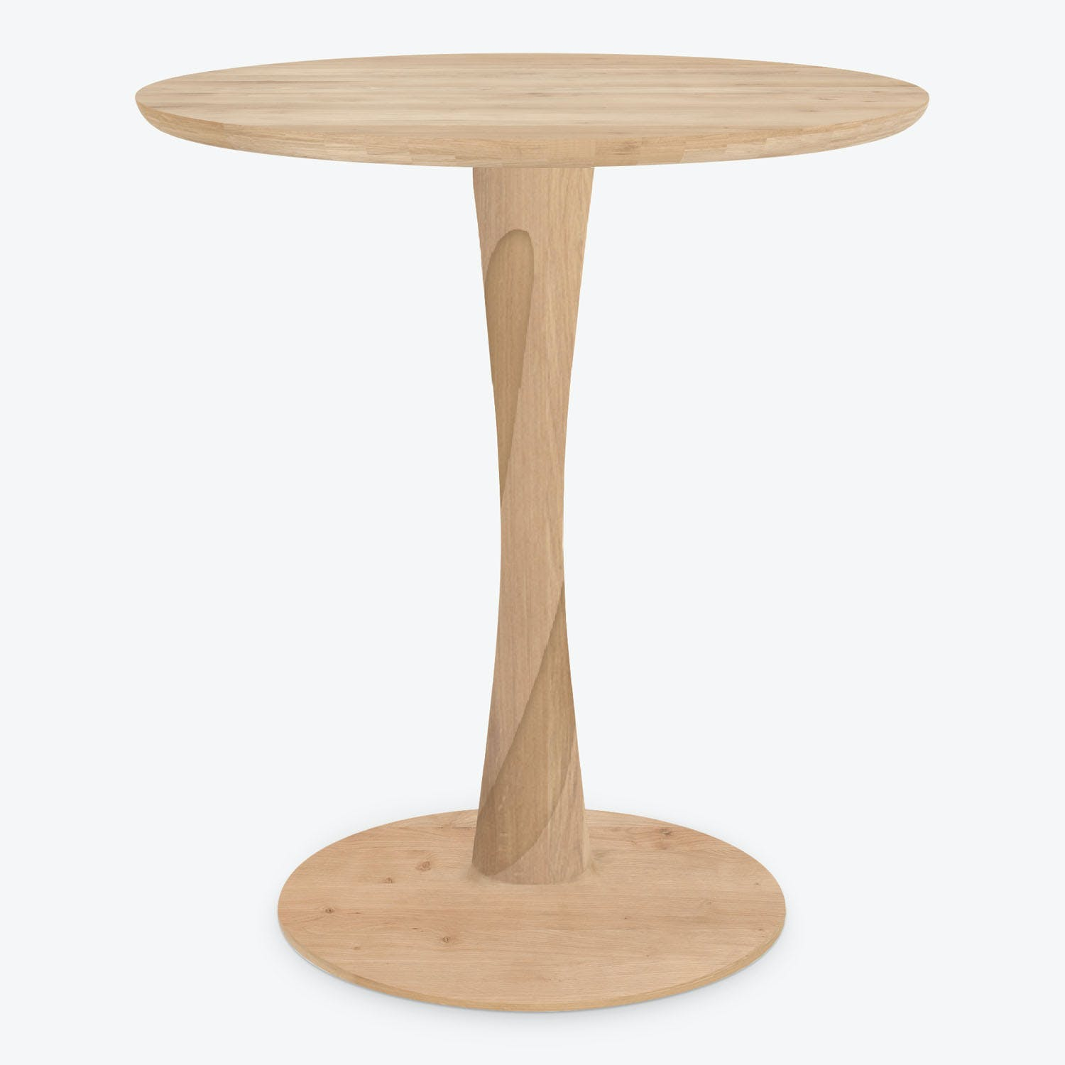 Ethnicraft Small Torsion Natural Oak Round Dining Table